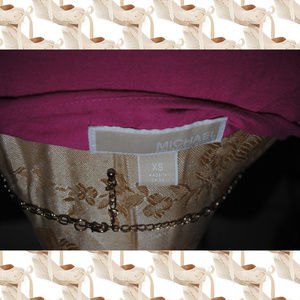 MICHAEL Michael Kors Dresses - MICHAEL MICHAEL KORS Pink Linen Embroidered Dress